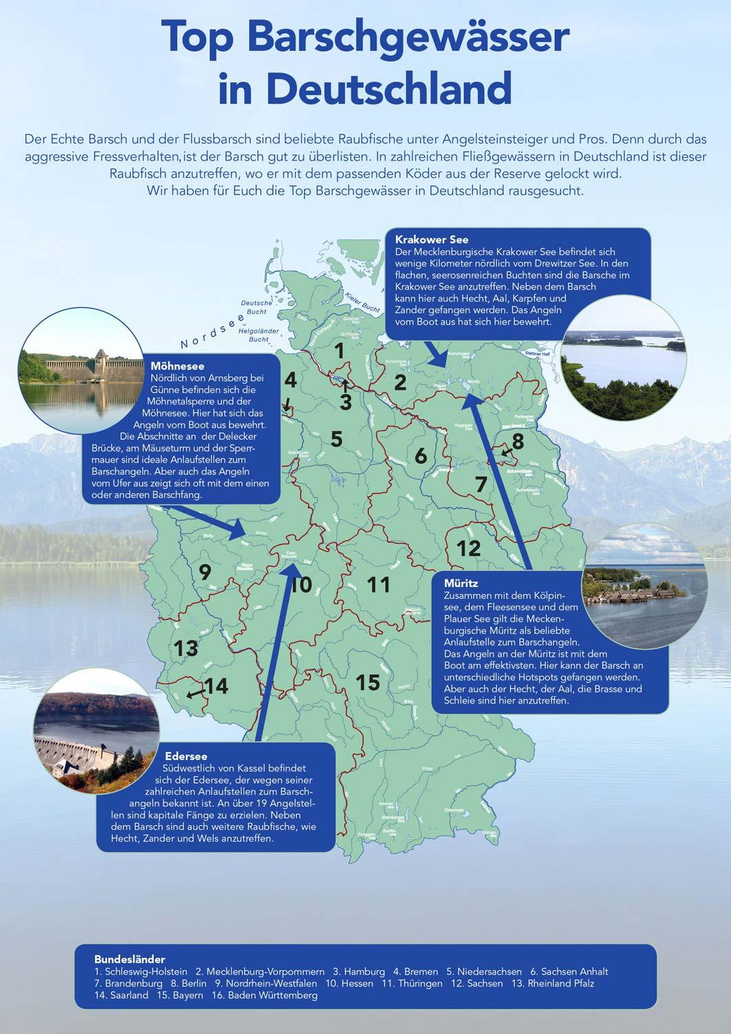 Seen In Norddeutschland Karte.Angelblog Top Barschgewasser In Deutschland