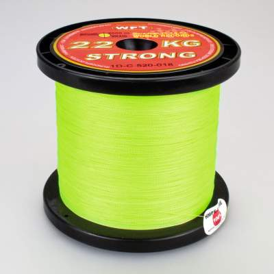 WFT 22KG Strong Schnur chartreuse 0,18mm, 2000m, - chartreuse - TK22kg - 0,18mm - 2000m