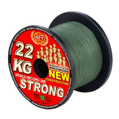 WFT New 10KG Strong green 600m 0,08mm, - green - TK10kg - 0,08mm - 600m