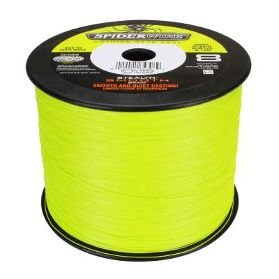 Spiderwire Stealth Smooth 8 Hi-Vis-Yellow Meterware Angelschnur, TK12,7kg - 0,13mm