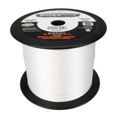 Spiderwire Stealth Smooth 8 Translucent Meterware Angelschnur, TK46,3kg - 0,39mm