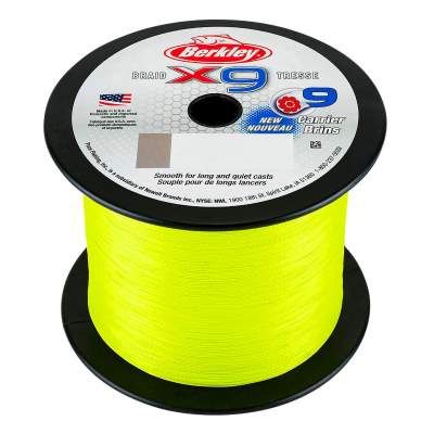 Berkley X9 Braid Flame Green 2000m, TK7,6kg - 0,08mm