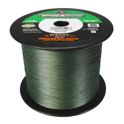 Spiderwire Stealth Smooth 8 Moss Green Meterware Angelschnur, TK46,3kg - 0,39mm
