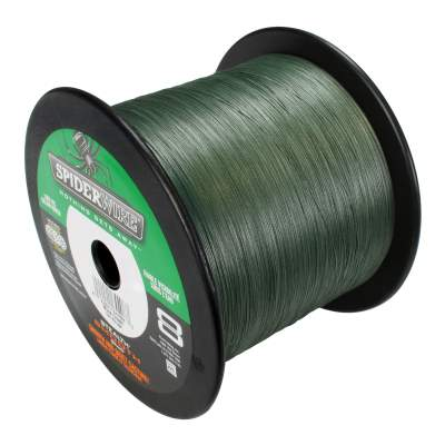 Spiderwire Stealth Smooth 8 Moss Green Meterware Angelschnur, TK7,5kg - 0,09mm