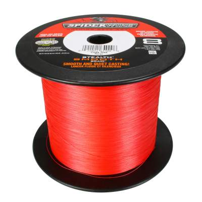 Spiderwire Stealth Smooth 8 Red 2000m Angelschnur, TK38,1kg - 0,33mm