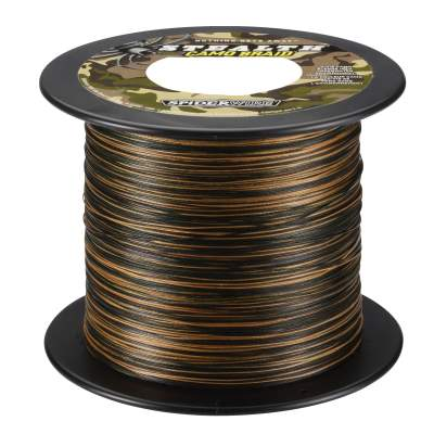 Spiderwire Stealth Smooth 8 Camo Meterware Angelschnur, TK5,4kg - 0,06mm