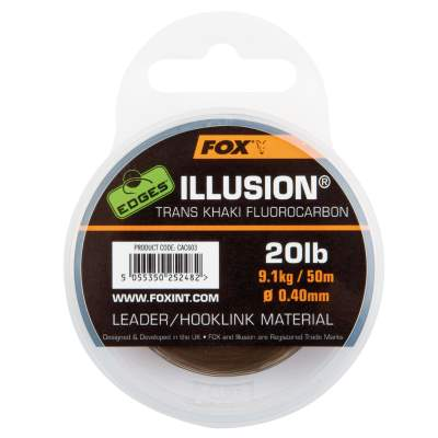Fox Edges Illusion Leader 0,40mm Trans Khaki