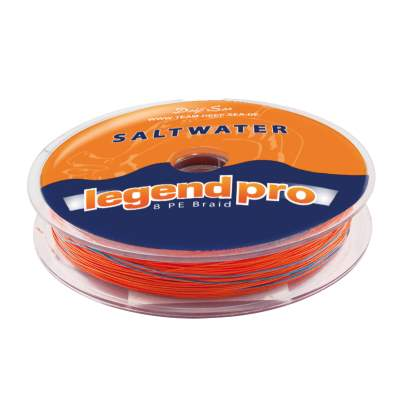 Team Deep Sea Saltwater Legend Pro, 8 PE Braid 300 029, 300m - 0,29mm - orange/darkblue - 26,7kg