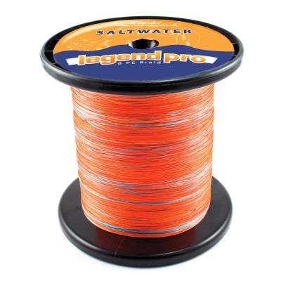 Team Deep Sea Saltwater Legend Pro, 8 PE Braid 1000 034, 1000m - 0,34mm - orange/darkblue - 33,45kg