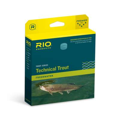 RIO Trout Series Technical Trout Freshwater - 24,2m Fliegenschnur, DT4F - Sky Blue/Peach