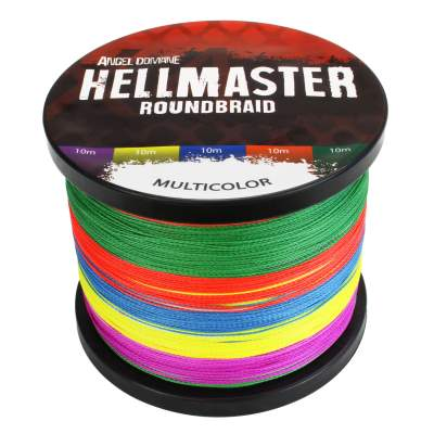 Angel Domäne Hellmaster Roundbraid Multicolor Angelschnur, 1000m - 0,20mm - 18,45kg