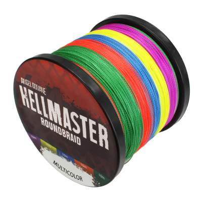 Angel Domäne Hellmaster Roundbraid Multicolor Angelschnur, 1000m - 0,40mm - 37,15kg