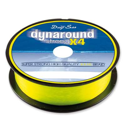 Team Deep Sea Dynaround Strong 4 PE Braid, SG 300 021, 300m - 0,21mm - signalgelb - 16,3kg