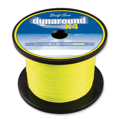Team Deep Sea Dynaround Strong 4 PE Braid, SG 1000 016, 1000m - 0,16mm - signalgelb - 13,25kg