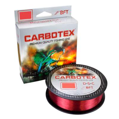 Carbotex DSC (Double Silicon Coating) rot 500m 0,30mm, 500m - 0,3mm - red glow - 12,55kg
