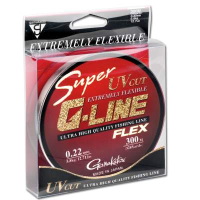 Gamakatsu Super G-Line Flex 026, 300m - 0,26mm - transparent - 8,1kg