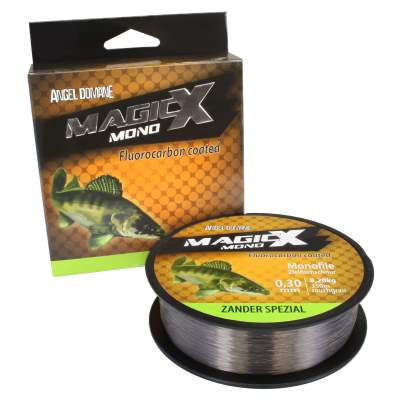 Angel Domäne Magic-X Mono Fluorocarbon Coated Zander Spezial 350m 0,28mm, 350m - 0,28mm - rauchgrau - 7,4kg