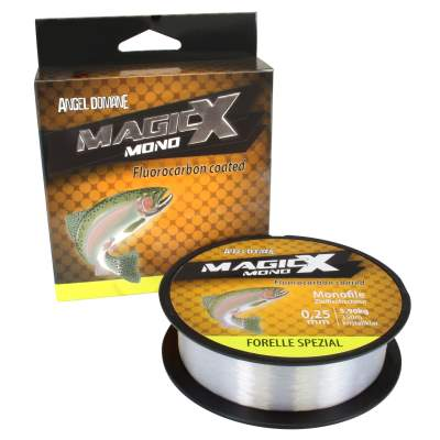 Angel Domäne Magic-X Mono Fluorocarbon Coated Forelle Spezial 350m 0,20mm, 350m - 0,2mm - kristallklar - 4,2kg