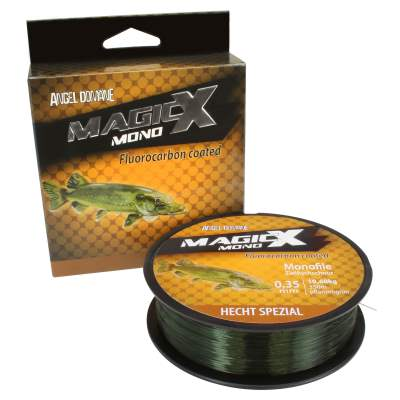 Angel Domäne Magic-X Mono Fluorocarbon Coated Hecht Spezial 350m 0,30mm, 350m - 0,3mm - pflanzengrün - 8,1kg