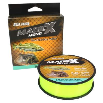 Angel Domäne Magic-X Mono Fluorocarbon Coated Salzwasser Spezial 350m 0,30mm, 350m - 0,3mm - neongelb - 8,1kg