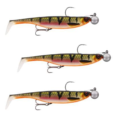 Westin ShadTeez Slim Rigged 'N Ready Gummifisch, 14cm - Bling Perch - 32g - 3 Stück