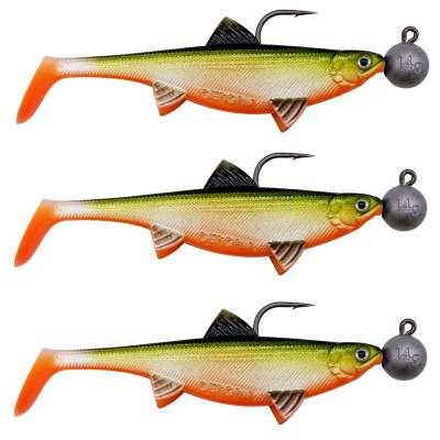 Senshu Real Fin Shad 12 Ready2Catch - Orange Belly Gummifische, 12cm - 25g - 3 Stück