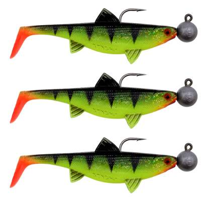 Senshu Real Fin Shad 12 Ready2Catch - Shiny Tiger Gummifische, 12cm - 25g - 3 Stück