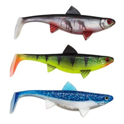 Senshu Real Fin Shad 12 Mix Pack, 12cm - 13g - 3 Stück - Mixed