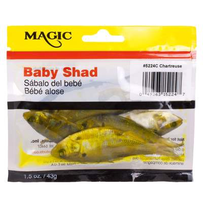 Magic Preserved Shad in Pouch-Chartreuse