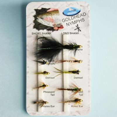 X-Version Fly Fliegenset: GOLDHEAD NYMPHS