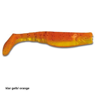 Angel Domäne Gummifische Action Shads 5cm 8er Pack klar gelb/orange