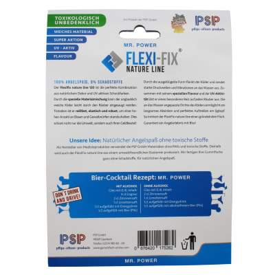 FlexiFix Natureline Gummifische 120mm, 6 Stück, Mr. Power