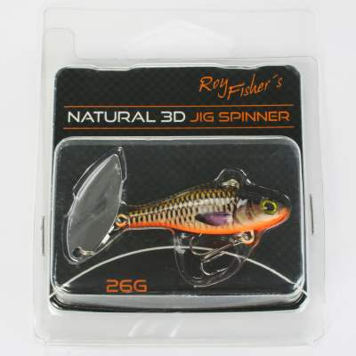 Roy Fishers Natural 3D Jig Spinner 26g Hot Carp