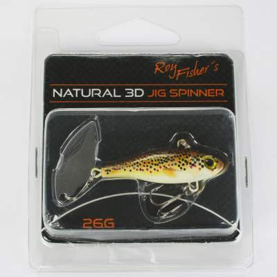 Roy Fishers Natural 3D Jig Spinner 26g Trout