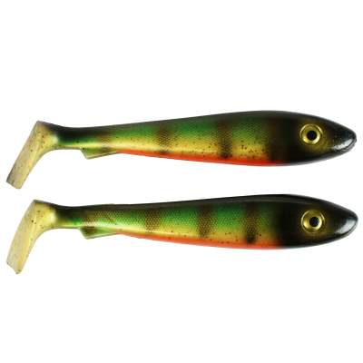 Svartzonker Sweden McRubber 2nd Quality, 21cm - Old School Perch - 85g - 2 Stück