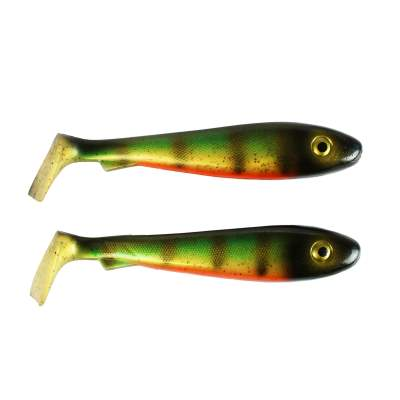 Svartzonker Sweden McRubber Junior 17cm Gummifische, 45g - 2 Stück - Old School Perch C28