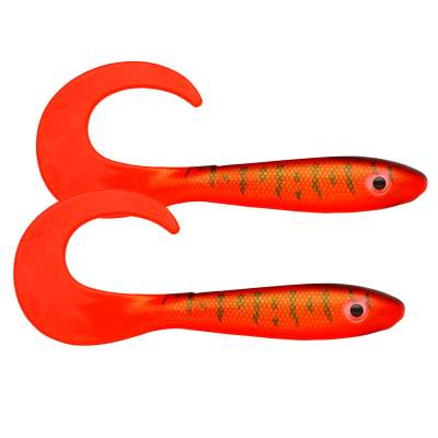 Svartzonker Sweden McRubber Tail Twister 34cm, 96g - 2 Stück - Red Tiger C4