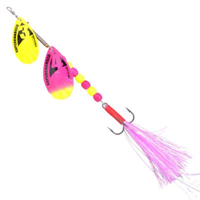 SPRO Supercharged weigted Tandem Spinner 18g Cotton Candy