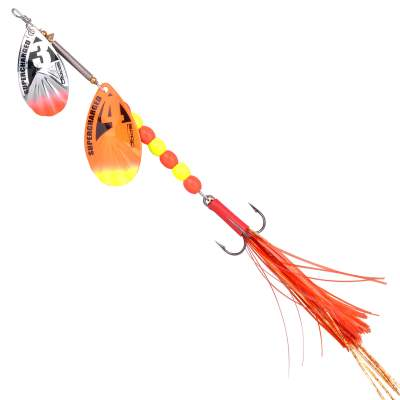 SPRO Supercharged weigted Tandem Spinner 18g Orange