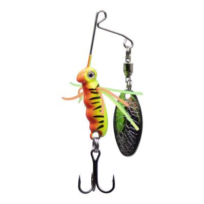 SPRO Micro Larva Spinnerbait Treble Hook FT Mini Spinnerbait, 4cm - 7g - Firetiger - 1Stück