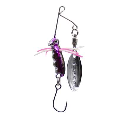 SPRO Micro Larva Spinnerbait Single Hook RT Mini Spinnerbait, 4cm - 7g - Rainbow Trout - 1Stück