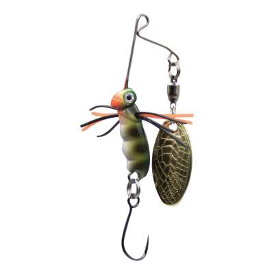 SPRO Micro Larva Spinnerbait Single Hook P Mini Spinnerbait, 4cm - 7g - Perch - 1Stück