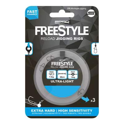 Spro Freestyle Reload Jigging Rig 22, - 0,22mm - 3Stück
