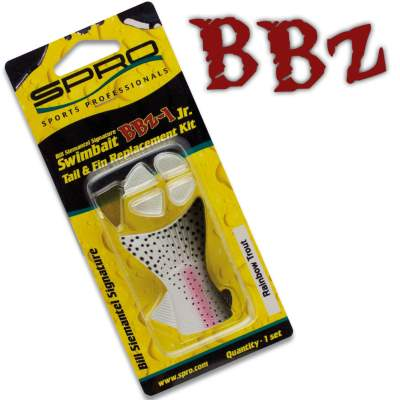 SPRO BBZ-1 Swimbait Fins & Tail replacements Set 18 GR