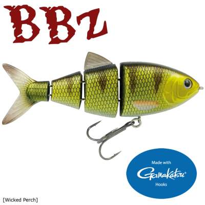 SPRO BBZ-1 4'' Shad Swimbait floating Wicked Perch