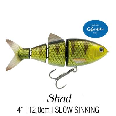 SPRO BBZ-1 4'' Shad Swimbait fast sinking Wicked Perch