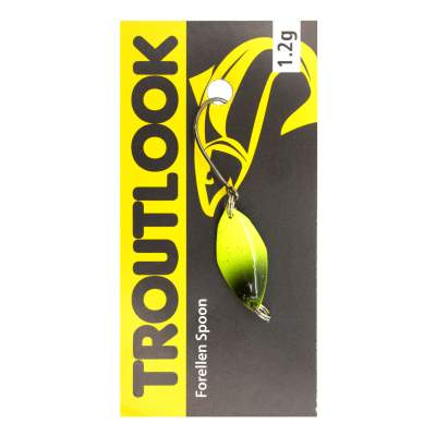 Troutlook Forellen Spoon Mosquito, 2,10cm - 1,2g - Yellow-Black-Glitter UV