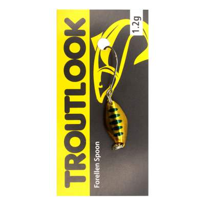 Troutlook Forellen Spoon Mosquito, 2,10cm - 1,2g - Gold-Black-Back