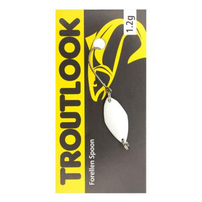 Troutlook Forellen Spoon Mosquito, 2,10cm - 1,2g - Pearlwhite-Silver