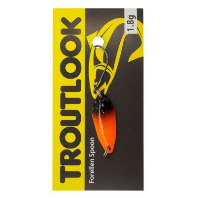 Troutlook Forellen Spoon Salsa, 2,60cm - 1,8g - Orange-Black UV